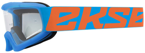 EKS X-Grom Youth Goggle - Cyan Blue/Flo Orange