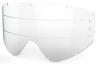 EKS GO-X Zip Off Anti-Fog Rain Lens, Clear