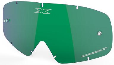 EKS X-GROM Anti-Fog Lens, Green/Mirror