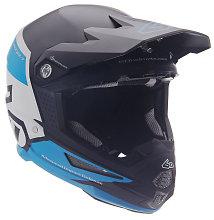 6D ATR-1 Flight Graphic Helmet, Black/Blue