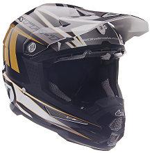 6D ATR-1 Point Graphic Helmet White/Gold Gloss