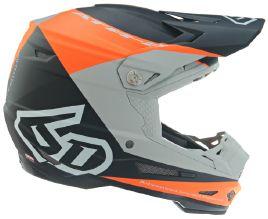 6D ATR-2 Quadrant Helmet, Orange/Black/Grey