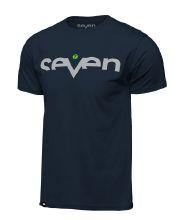 Seven Brand Tee, Navy/Flo Green