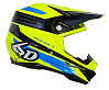 6D ATR-1 Pilot Helmet - Neon Yellow/Blue/Black, XL