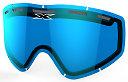 EKS GO-X DL Pane Vented Lens, Blue Mirror