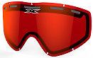 EKS GO-X DL Pane Vented Lens, Red Mirror
