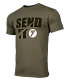 Seven Send-It Tee, Military Green